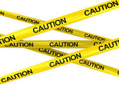 Caution ribbons — Stock Photo