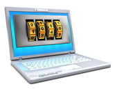 Protected laptop — Stock Photo
