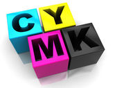 Cmyk cubes — Stock Photo