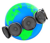 Sound around earth — Stock Photo