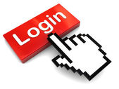 Push login button — Stock Photo