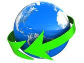Earth turn — Stock Photo