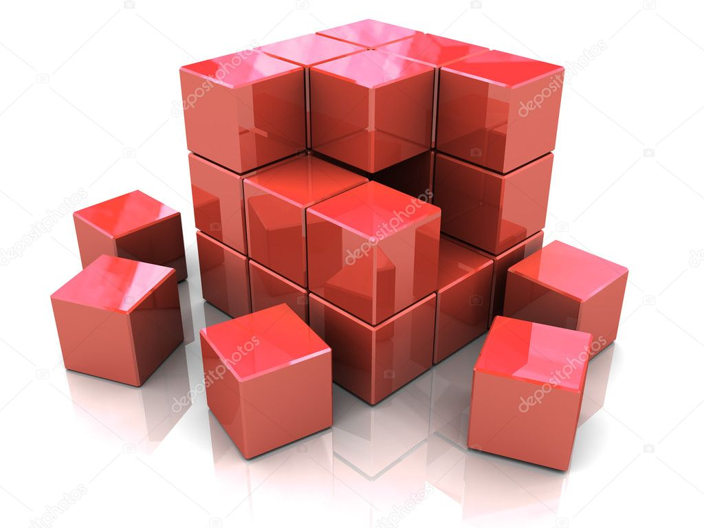 how to create a 3d cube in html