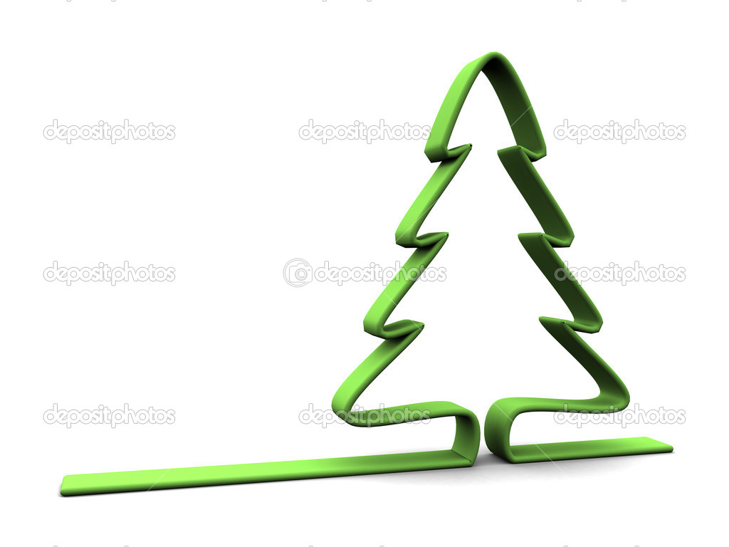 Christmas tree symbol — Stock Photo © mmaxer #3504804
