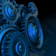Gear wheels background — Stock Photo