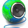 Earth globe speaker - Stockfoto