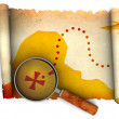 Royalty-Free Stock Photo: Treasure map