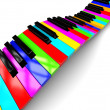 Colorful piano background — Stock Photo