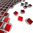 Red blocks background — Stock Photo