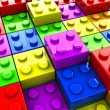 Puzzle toys background — Stock Photo