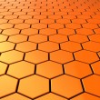 Hexagons background — Stock Photo