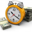 Royalty-Free Stock Photo: Money and clock