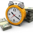 Money and clock — Stock Photo #3555234