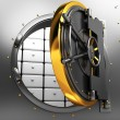 Bank vault door - Stock Photo