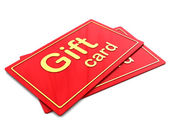 Gift cards — Stock Photo