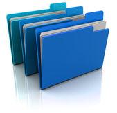 Blue folders — Stock Photo