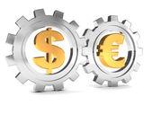 Cooperación dólar y euro — Foto de Stock
