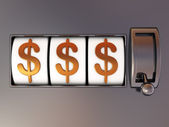 Dolarów jackpot — Zdjęcie stockowe