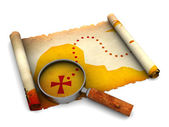 Treasure map — Stock Photo