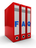 Faq folders — Stock Photo