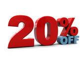 20 percent discount — Stock Photo