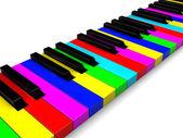 Colorful piano keys — Stok fotoğraf