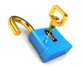 Key and lock — Stock Photo