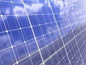Sfondo del pannello solare — Foto Stock