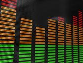 Audio spectrum — Stock Photo