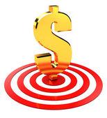 Dollar in target — Stock Photo