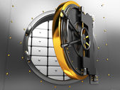 Bank vault door — Foto Stock