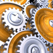 Stock Photo: Gear wheels background