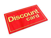 Discount card — Stock Photo