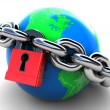 Locked earth — Stock Photo