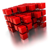 Abstract cube structure — Stock Photo