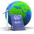 Solar and wind power — Stock Photo