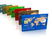 Plastové karty — Stock fotografie