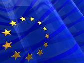 Europeiska flaggan bakgrund — Stockfoto