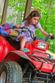 Young Girl on a 4-Wheeler ATV — Stock Photo