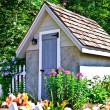 small garden shed — Stock Photo