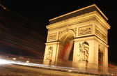 Slow shutter speed shot , Paris — Stock Photo