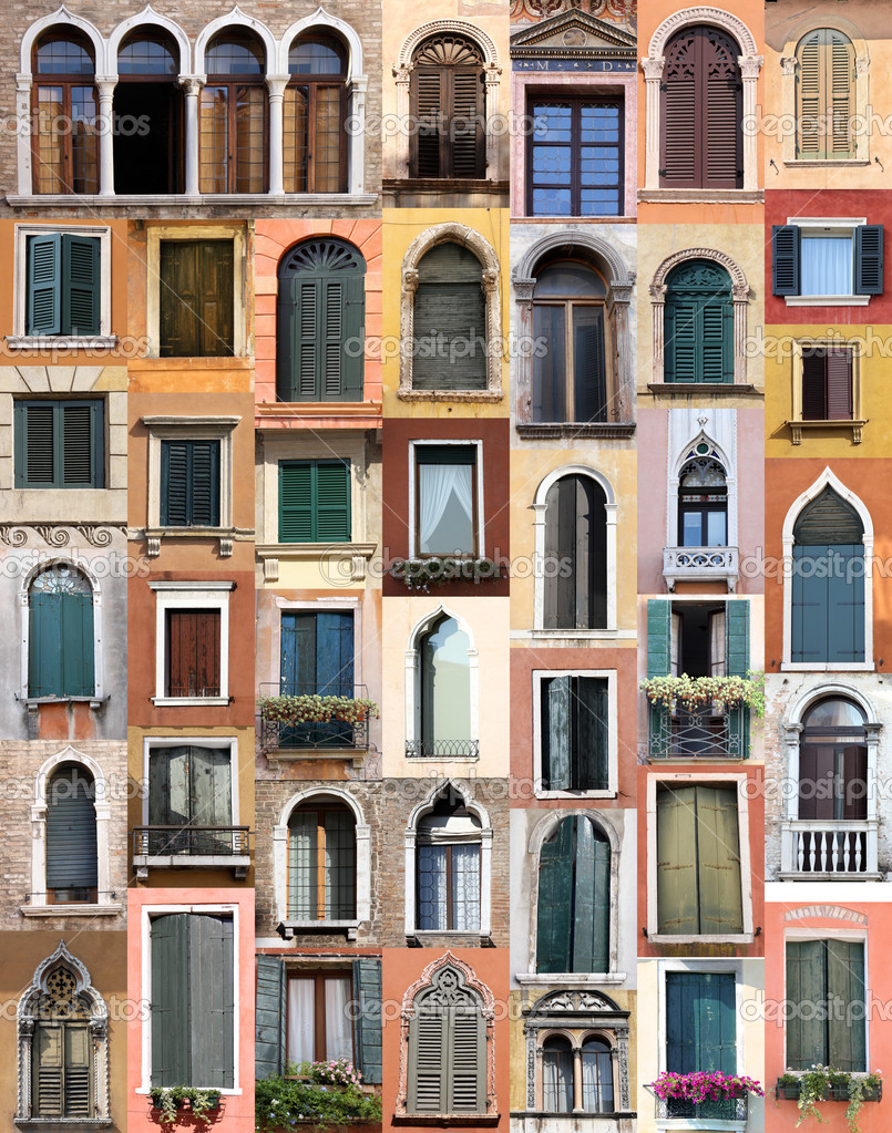 Venice windows — Stock Photo #3747099
