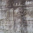 Stock Photo: Cambodia, reliefs in temple Bayon