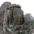Cambodia, stone sculptures in a temple of Bayon. — Stock Photo