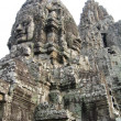Cambodia, stone sculptures in a temple of Bayon. - 图库照片
