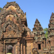 Cambodia, buildings of an ancient Buddhist temple. - Stockfoto