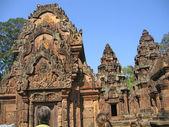 Kambodża, budynki starożytnej świątyni buddyjskiej. — Zdjęcie stockowe