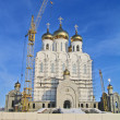 Church building in the city of Magadan, Russia. - 图库照片
