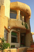 The house with an original architectural finishing in the city of Monastir — Stock Photo