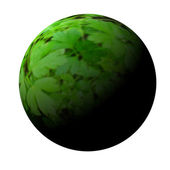 Green planet on a white background. — Stock Photo